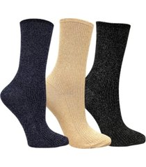 love sock company 3 pack women's shimmer socks bundle by