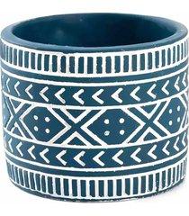 cachepo cimento le etnico 12cm azul