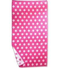 superior polka dot oversized beach towel, one size bedding