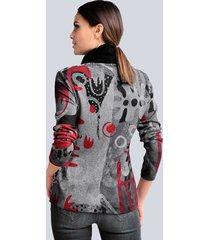 topp alba moda svart::grå::röd