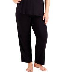 alfani plus size essential pajama pants, created for macy's