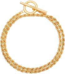 all blues rope polished gold vermeil bracelet