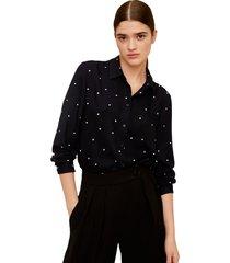 camisa negro-azul mng