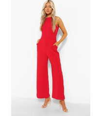 tall getailleerde jumpsuit, red