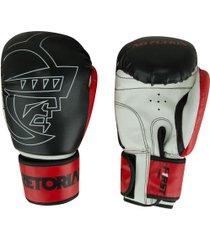 luvas de boxe pretorian first 14 oz - adulto - preto/vermelho
