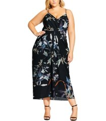 city chic trendy plus size moonlight maxi dress