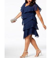 sl fashions plus size tiered shift dress