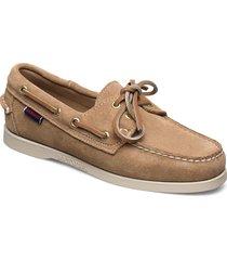 docksides portland suede w loafers låga skor beige sebago