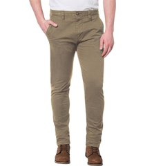 pantalón beige cat slim chino