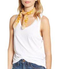 women's madewell bandana, size one size - yellow