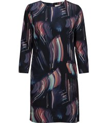 g1. printed city lights shift dress korte jurk blauw gant