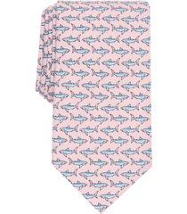 club room men's ocean shark slim neat tie, created for macy's