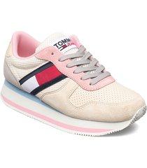 tommy jeans flatform runner sneakers skor rosa tommy hilfiger