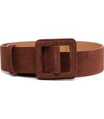 ba & sh betty suede buckled belt - brandy