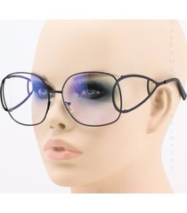 round metal frame clear lens vintage oversized new fashion women sunglasses