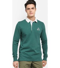 buzo verde tommy hilfiger ryan rugby l/s