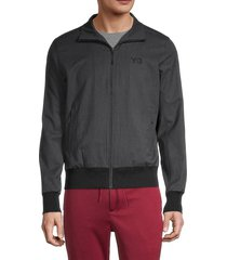 y-3 men's full-zip logo track jacket - dark grey - size l
