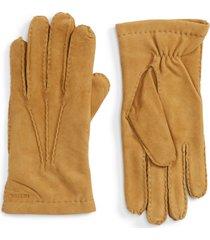 men's hestra 'arthur' suede gloves, size 9 - brown