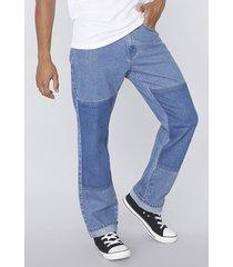 jeans straight bicolor azul corona