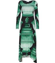 pennie maxi dress galajurk groen tiger of sweden
