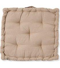almofada em algodão futton lilla 40x40cm bege