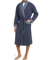 men's majestic international sky escape shawl collar knit robe, size large/x-large - blue