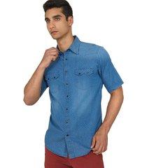 camisa casual denim regular fit 94645