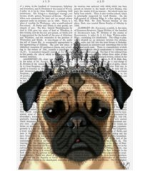 "fab funky pug with tiara canvas art - 36.5"" x 48"""