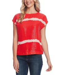 vince camuto sequin-stripe top