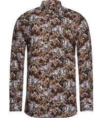 8207 - iver skjorta casual multi/mönstrad sand