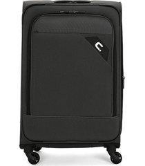 maleta  negro-gris colore
