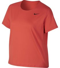 oranje dames trainings shirt nike w np top ss all over mesh - 889540-816
