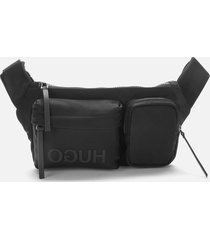 hugo men's record waist bag - black