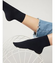 calzedonia 50 denier soft touch socks woman blue size tu