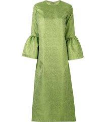 bambah camelia brocade dress - green