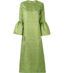 bambah camelia brocade dress - green