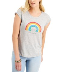 style & co rainbow nice day graphic t-shirt, created for macy's