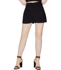 bcbgeneration cotton smocked-waist shorts
