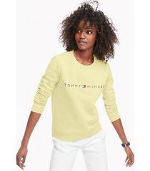 tommy hilfiger women's essential logo sweatshirt double cream - xl