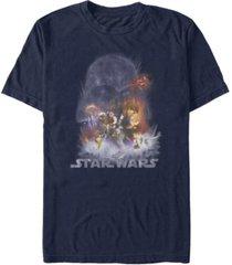 fifth sun men's star wars empire strikes back darth vader cloud short sleeve t-shirt