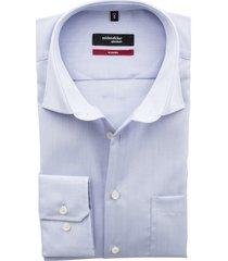 overhemd seidensticker modern blauw strijkvrij