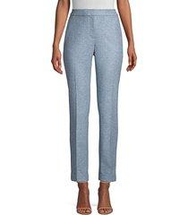 lafayette 148 new york women's clinton cuffed pants - blue dusk - size 12
