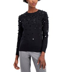 alfani paillette sweater, created for macy's