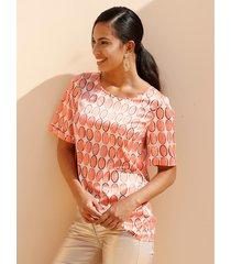 blouse amy vermont beige::oranje