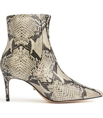 bette bootie - 11 natural snake snake embossed leather