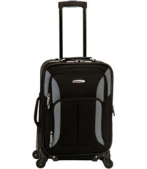 "rockland pasadena 19"" softside carry-on spinner"