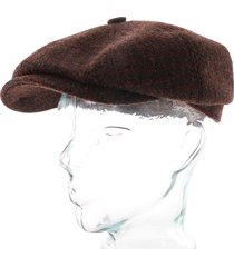 stetson hats harris tweed flat cap |red| 6840205-168