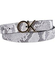 calvin klein women's reversible ck logo buckle belt