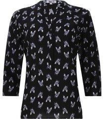 blusa estampada bulldog color negro, talla m