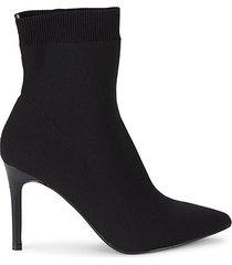 enya heeled sock mid-calf booties